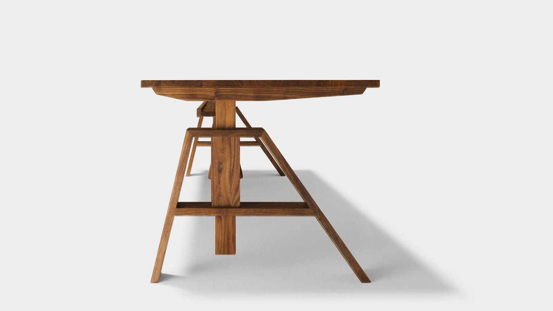 Holz Schreibtisch Höhenverstellbar