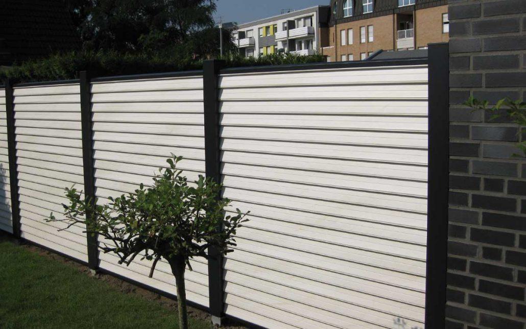 Holz Sichtschutzzaun Weiß