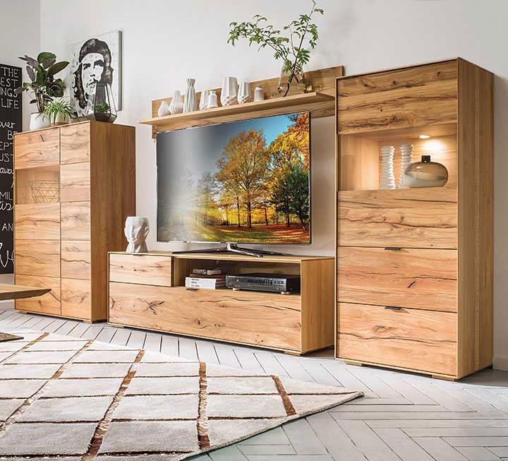 Holz Wohnwand Modern