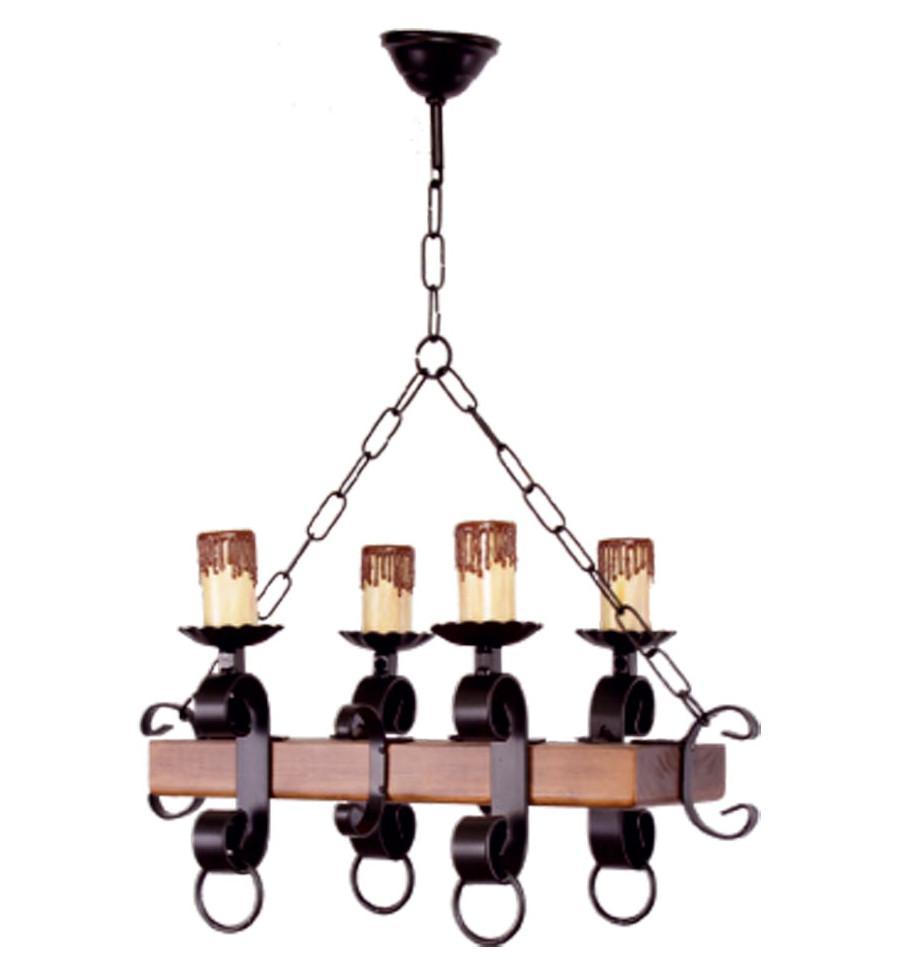 Holzbalken Rustikale Deckenlampe