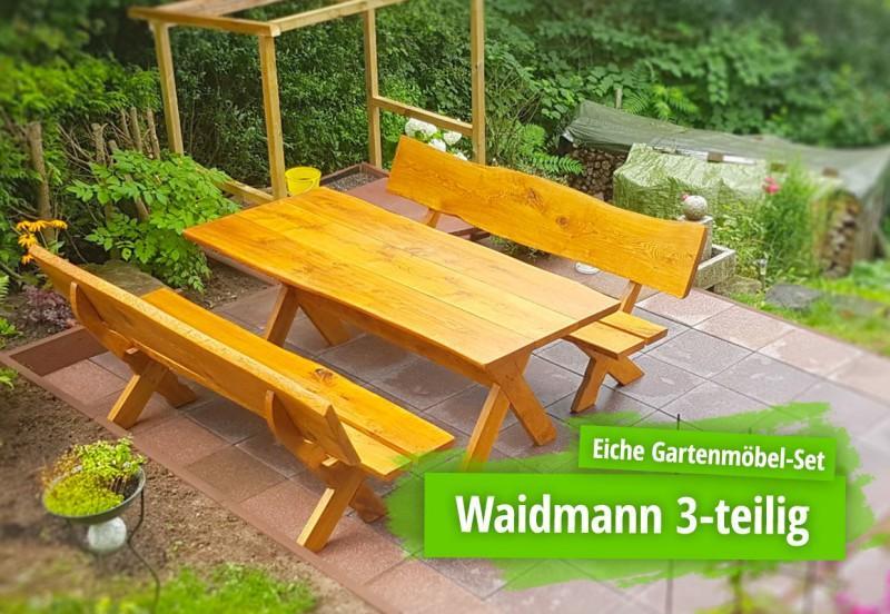 Holzbank Eiche Massiv Garten