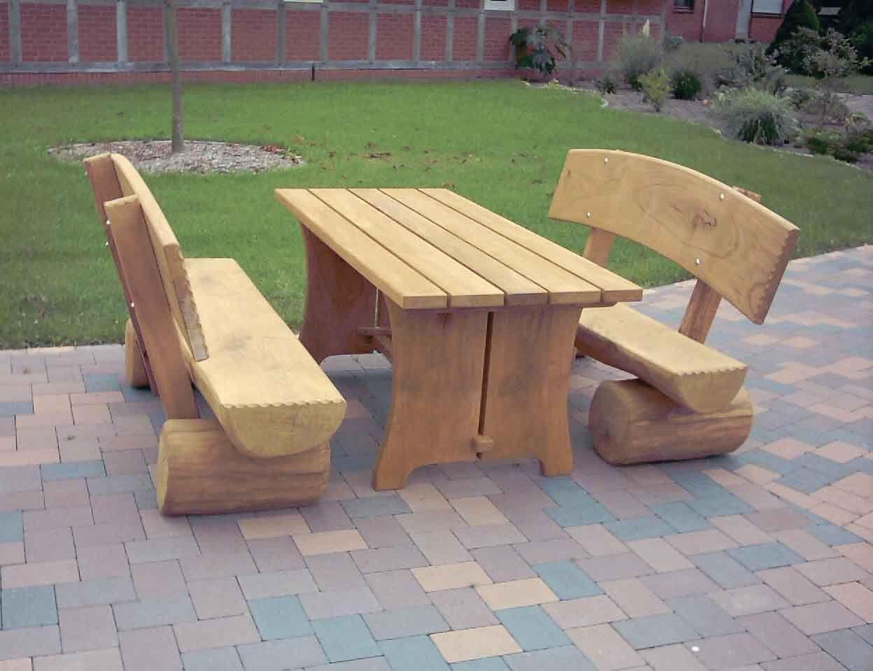 Holzbank Garten Massiv Selber Bauen