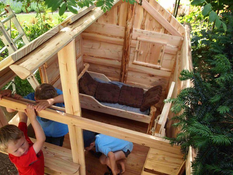 Holzhütte Kinder Garten