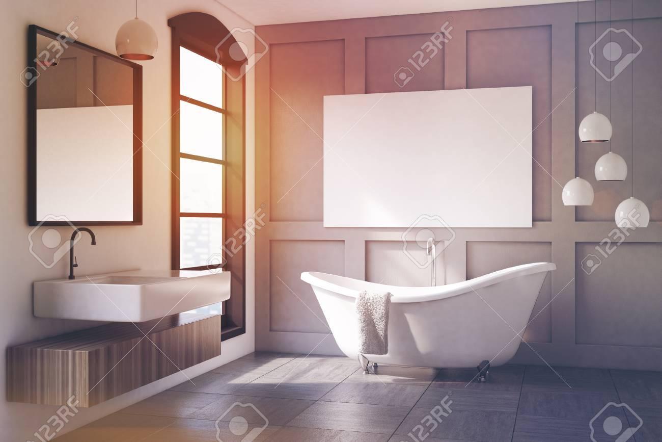 Holzregal Wand Badezimmer