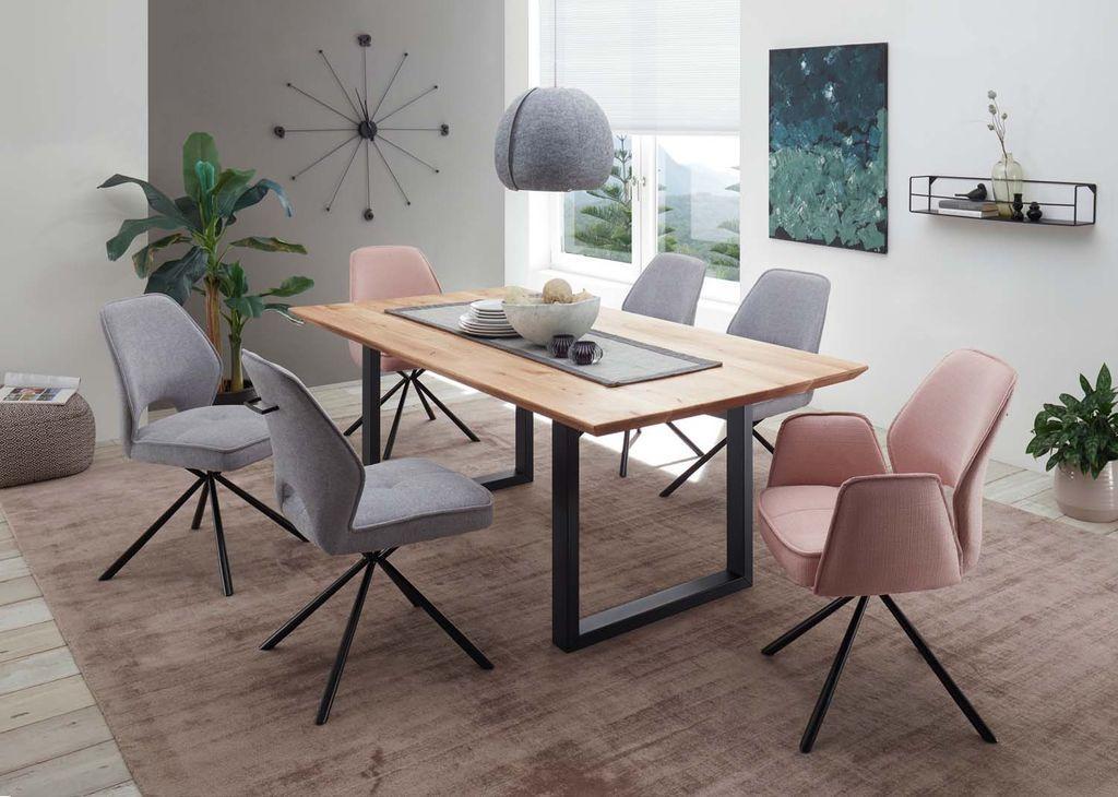 Holztisch Mit 6 Stühlen