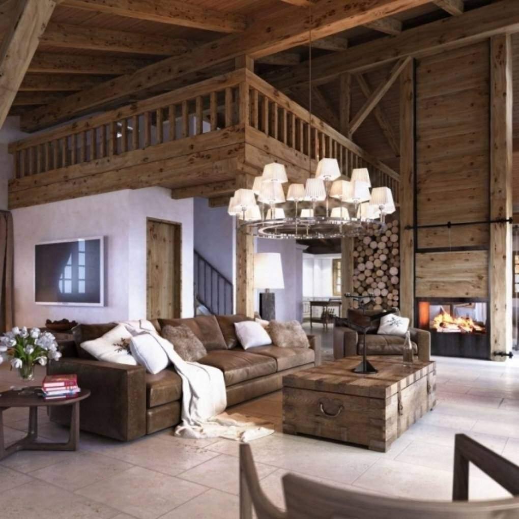 Holztisch Rustikal Wohnzimmer