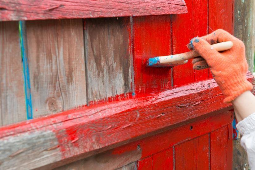 Holzwand Garten Rustikal