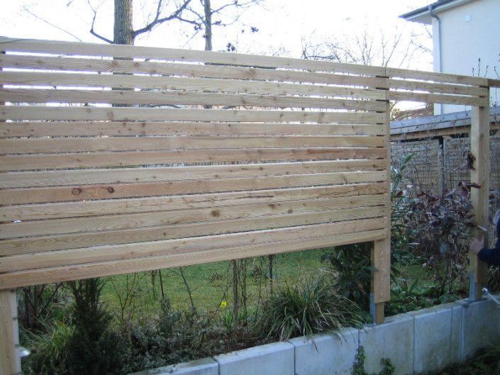 Holzwand Garten Selber Bauen
