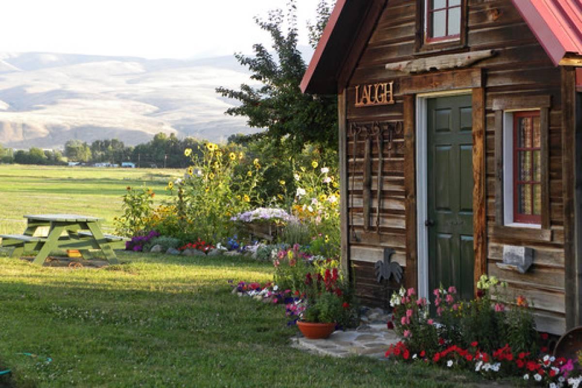 Holzwand Garten Weiss