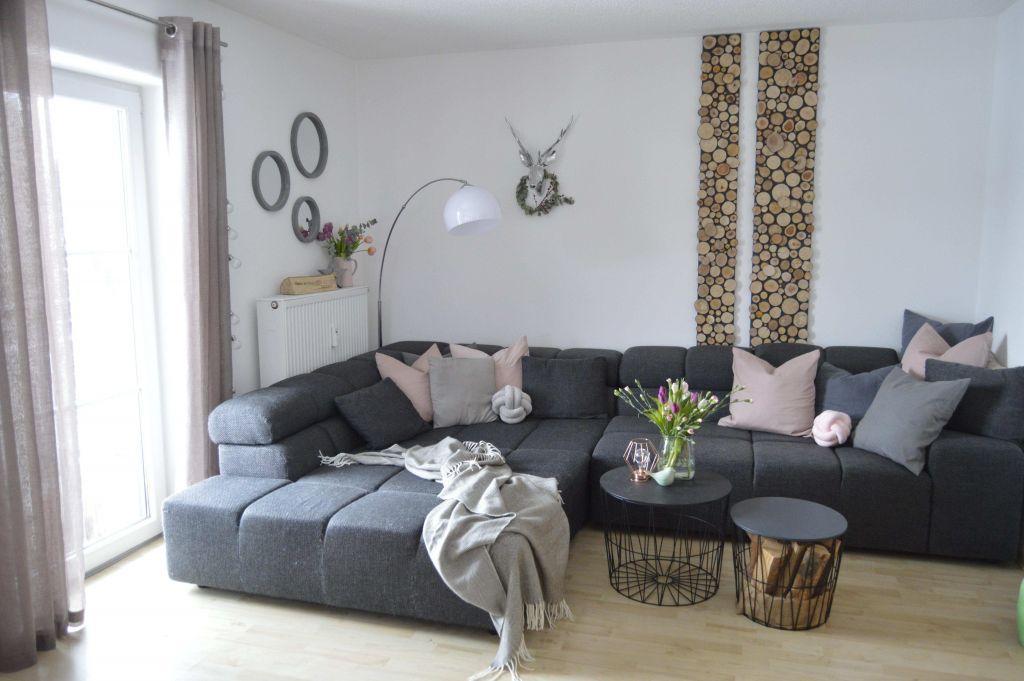Holzwand Wohnzimmer Grau