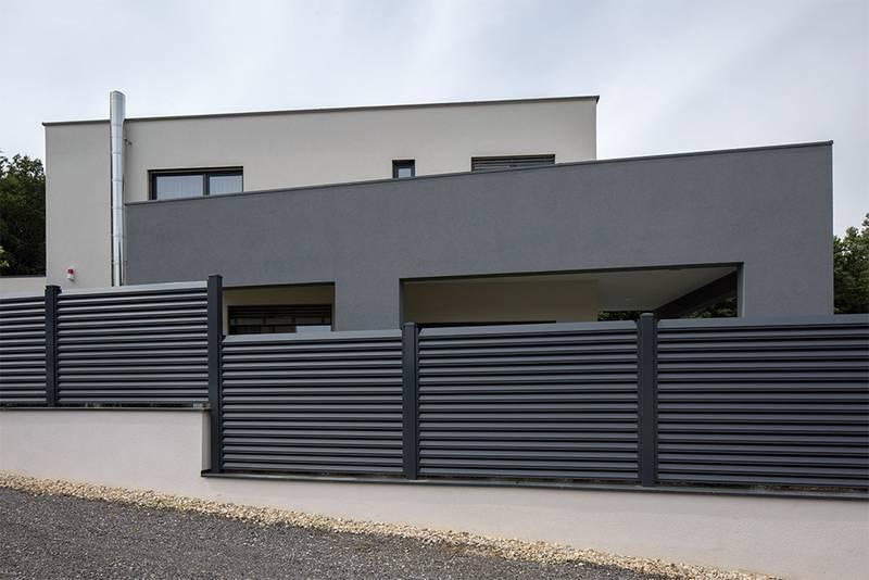 Holzzaun Modern Grau