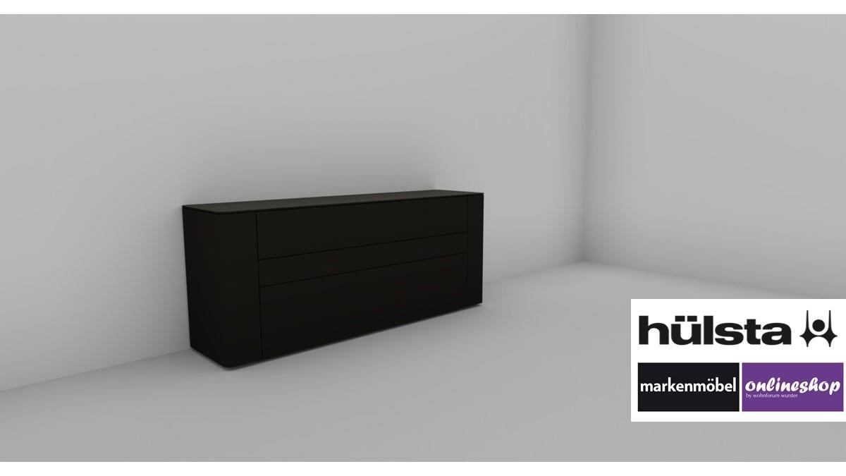 Hülsta Sideboard Grau Hochglanz