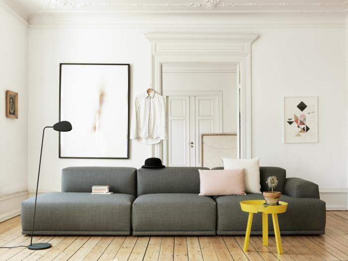 Ideen Graues Sofa Dekorieren