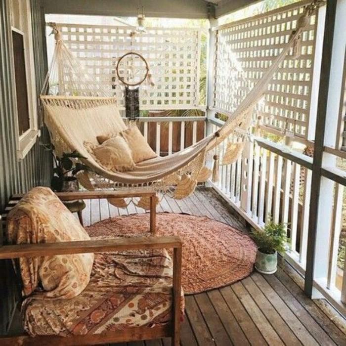 Ideen Hängematte Balkon