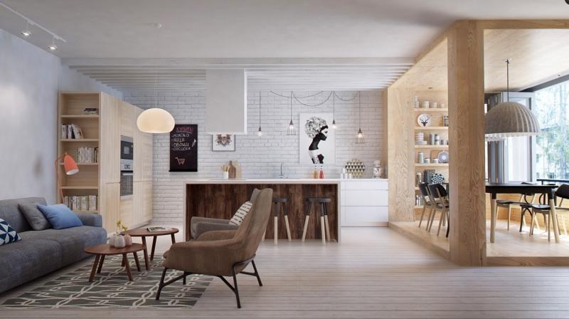 Ideen Küche Und Wohnzimmer In Einem Raum