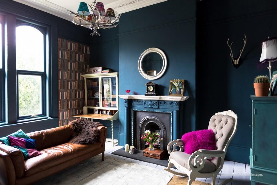 Ideen Wandgestaltung Wohnzimmer Bilder
