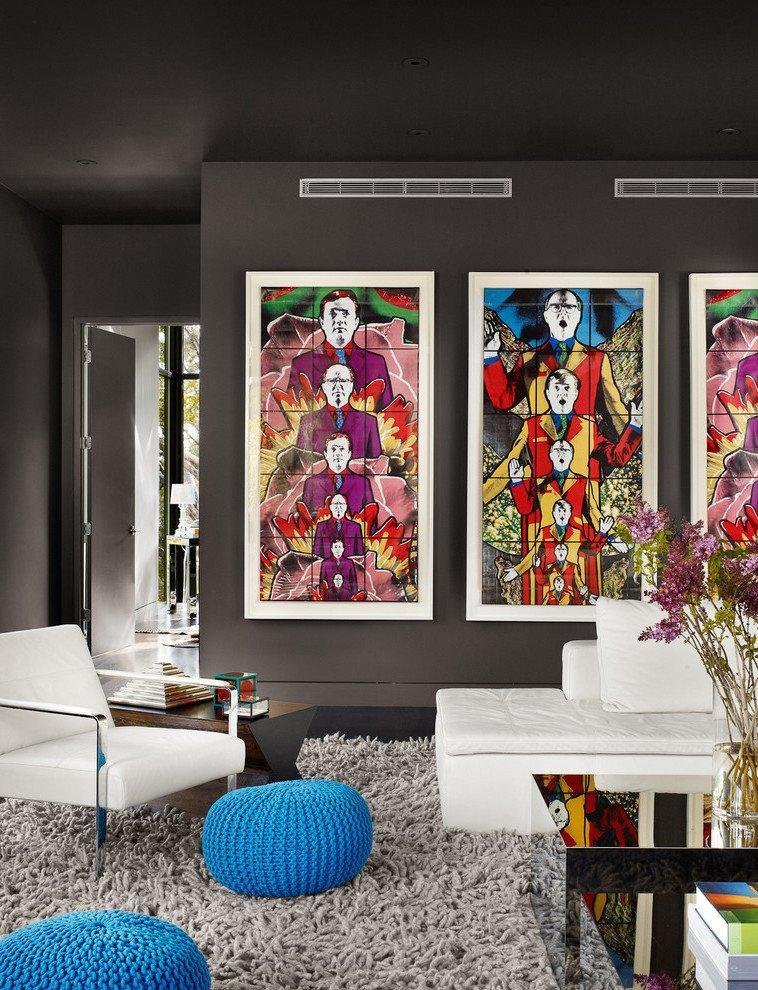 Ideen Wandgestaltung Wohnzimmer Grau