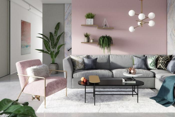 Ideen Wandgestaltung Wohnzimmer Modern