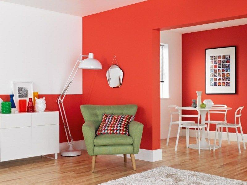 Ideen Wohnzimmer Rot Grau