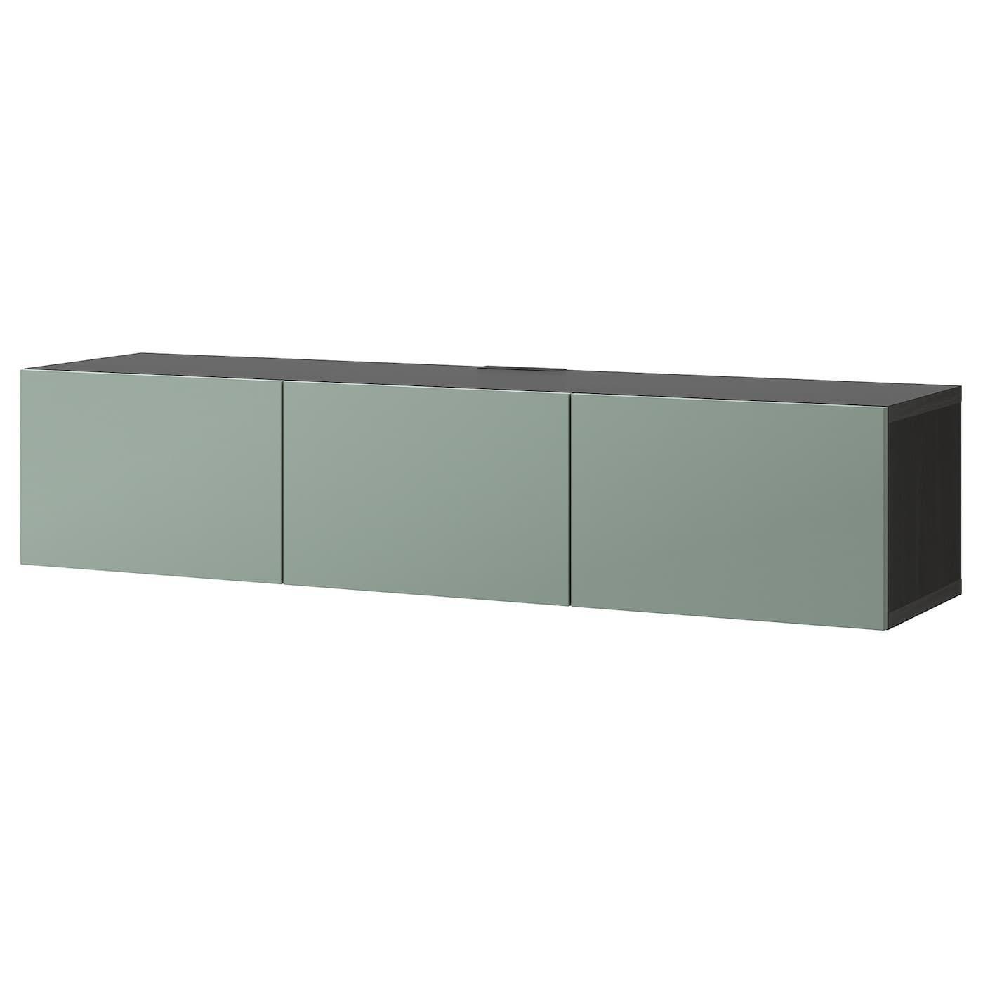 Ikea Besta Sideboard Schwarzbraun