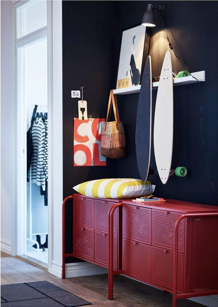 Ikea Brimnes Kommode Rot