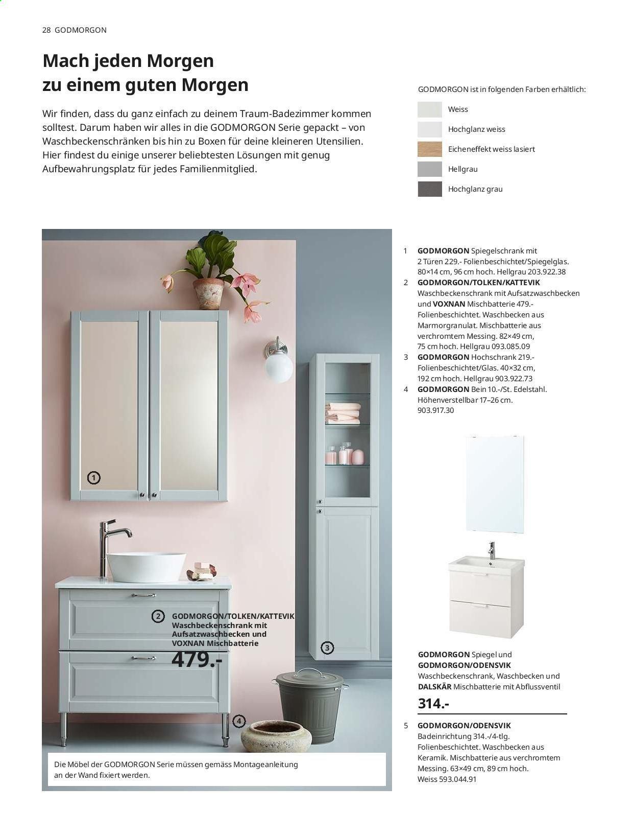 Ikea Godmorgon Spiegelschrank
