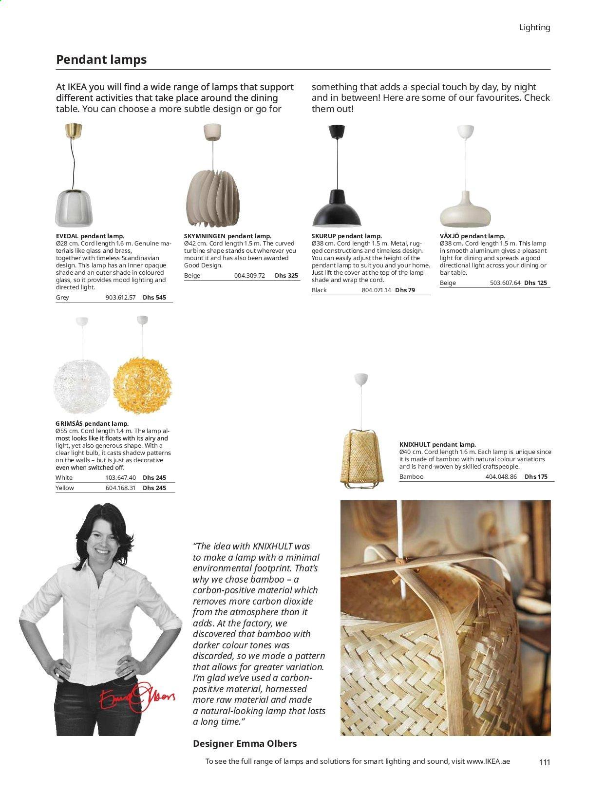 Ikea Grimsas Pendant Lamp