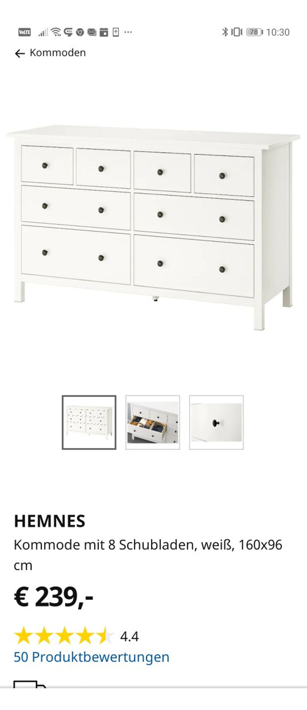Ikea Hemnes Kommode Schmal