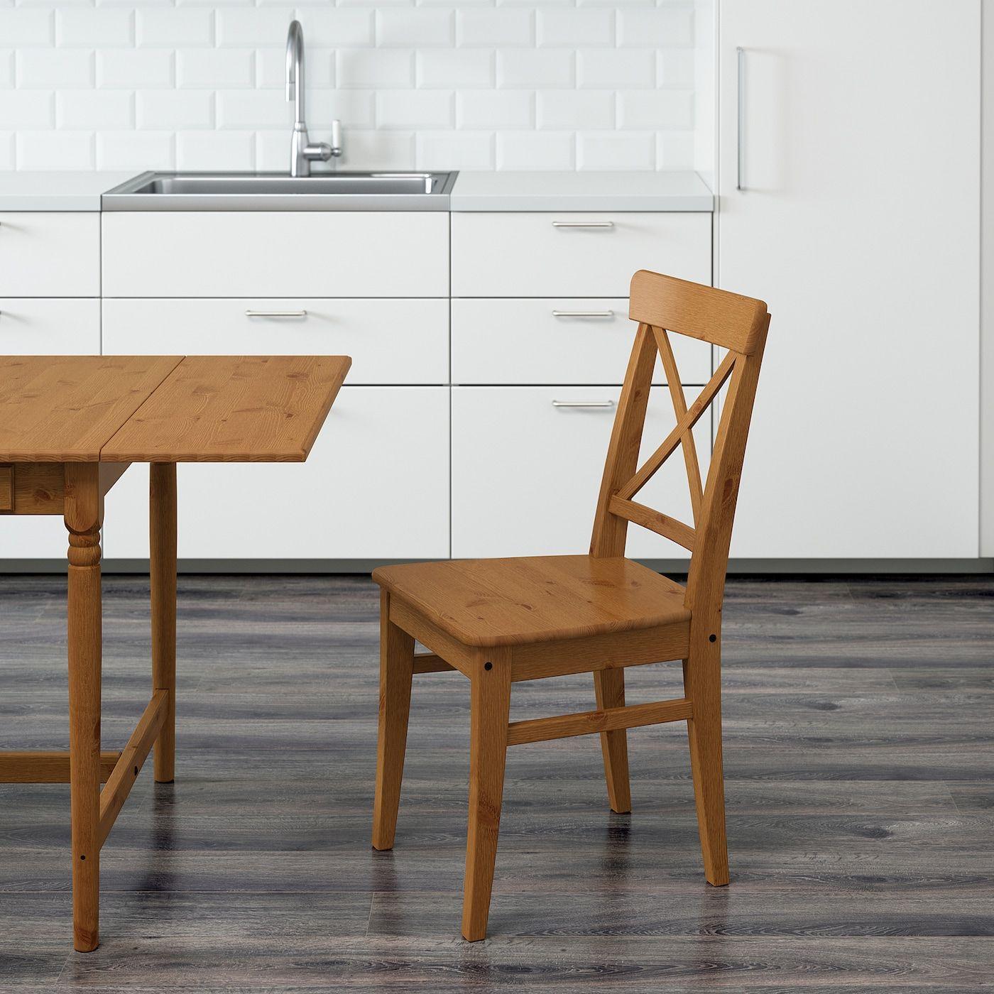 Ikea Holzstuhl Schwarz