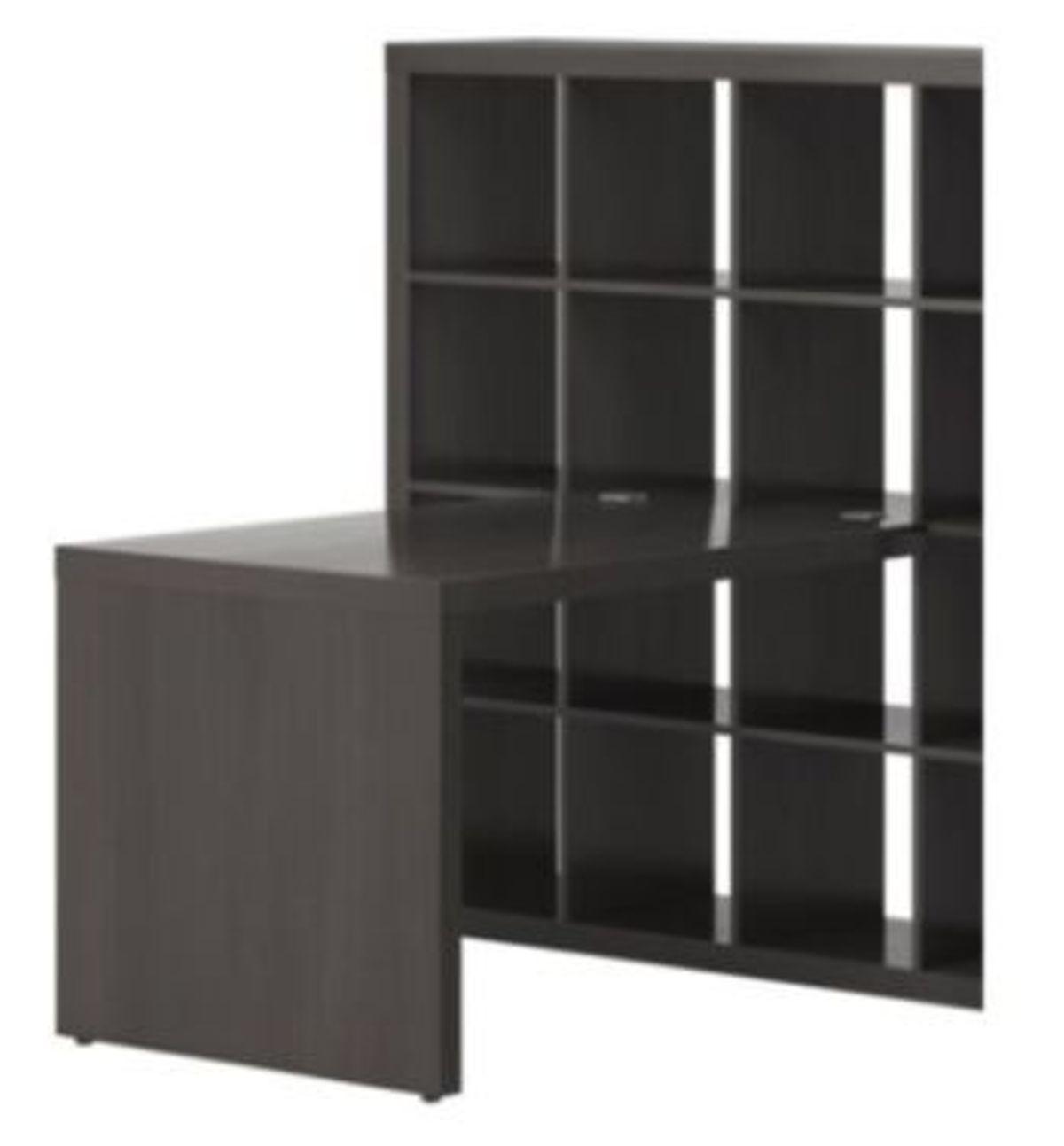 Ikea Kallax Schreibtisch Mit Regal