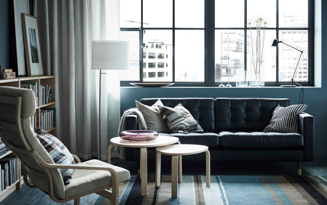 Ikea Karlstad Sofa Leder