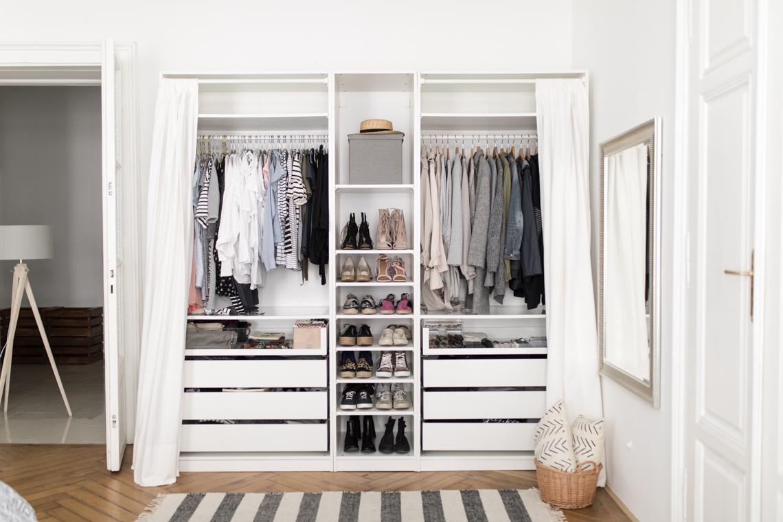 Ikea Kleiderschrank Grau Weiß