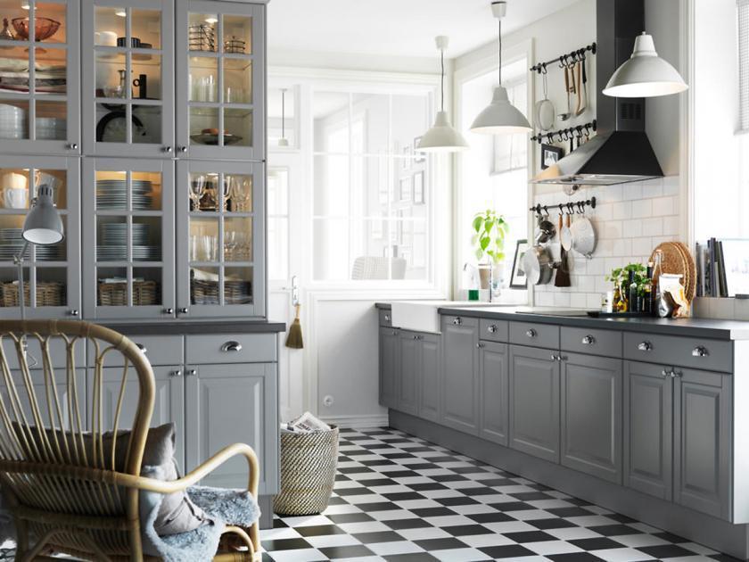 Ikea Küche Grau Bodbyn