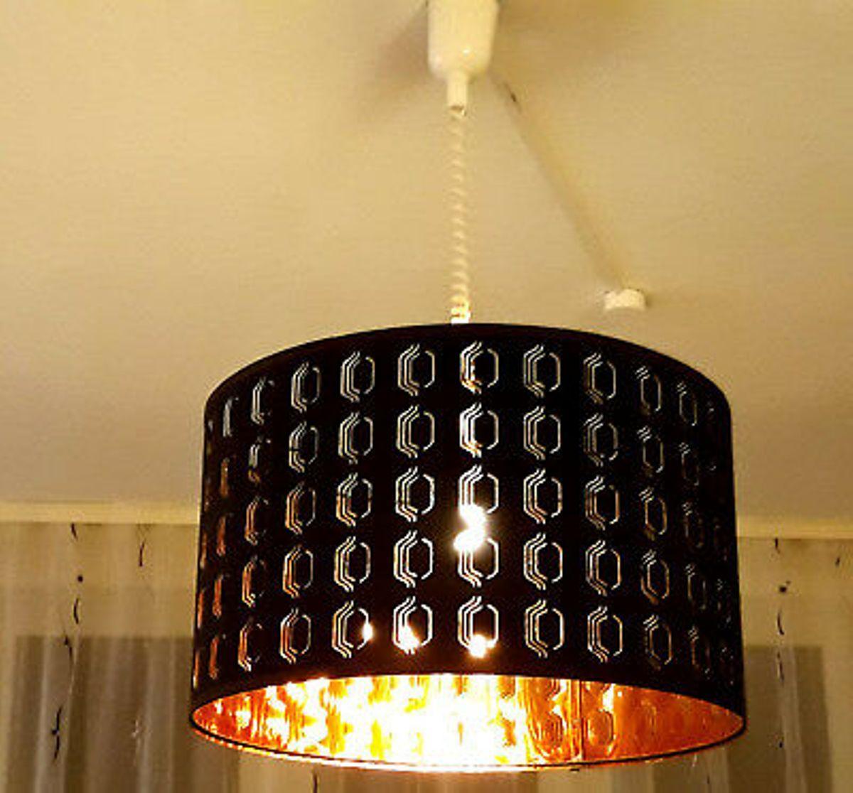 Ikea Lampe Kupfer Schwarz