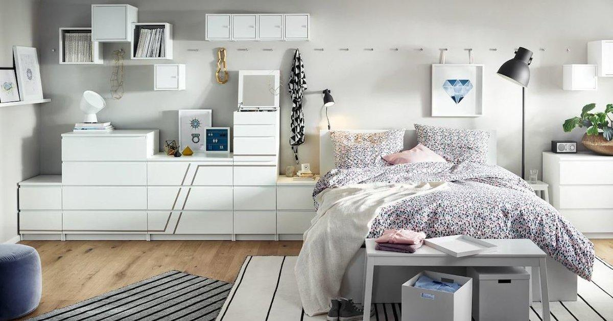 Ikea Malm Kommode 6 Schubladen Glasplatte