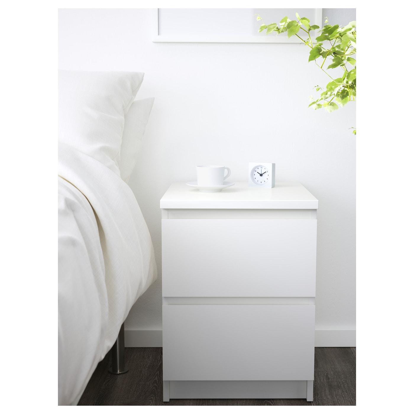 Ikea Malm Kommode Weiß 4 Schubladen