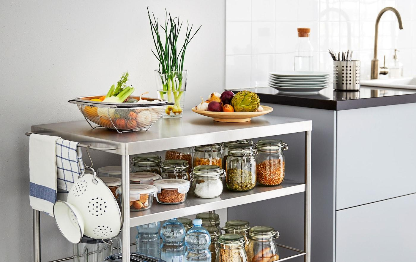 Ikea Regal Küche Edelstahl