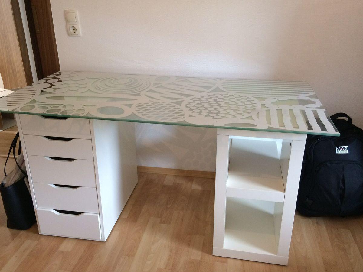 Ikea Schreibtisch Küchenarbeitsplatte