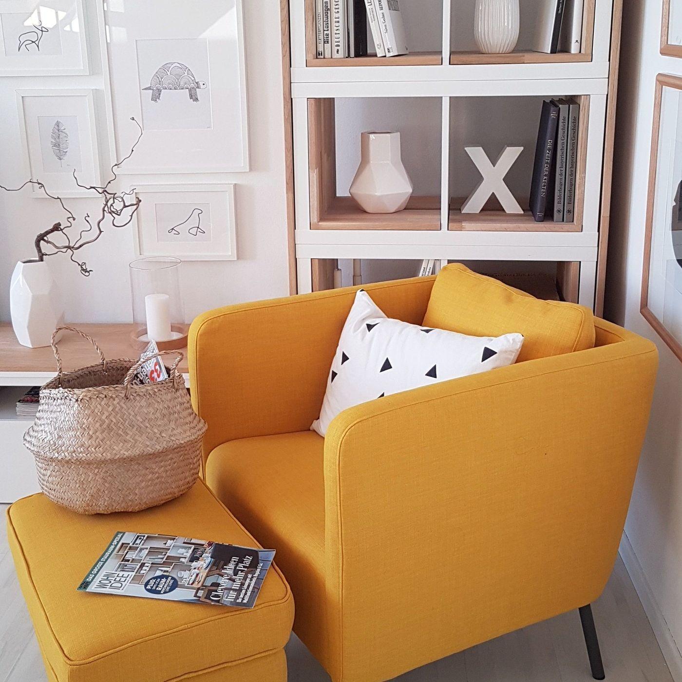 Ikea Sessel Grau Mit Hocker