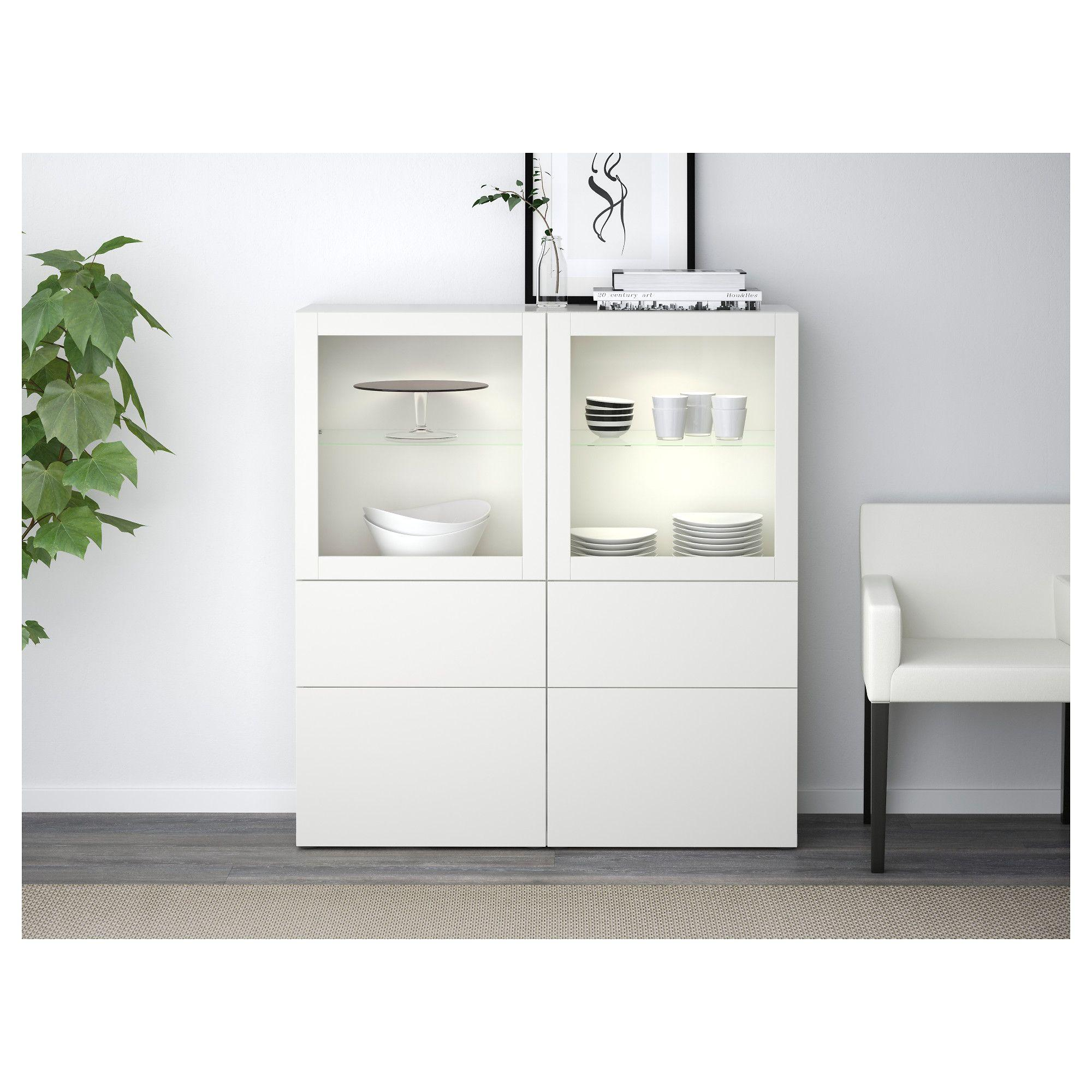 Ikea Sideboard Weiß Hochglanz Besta