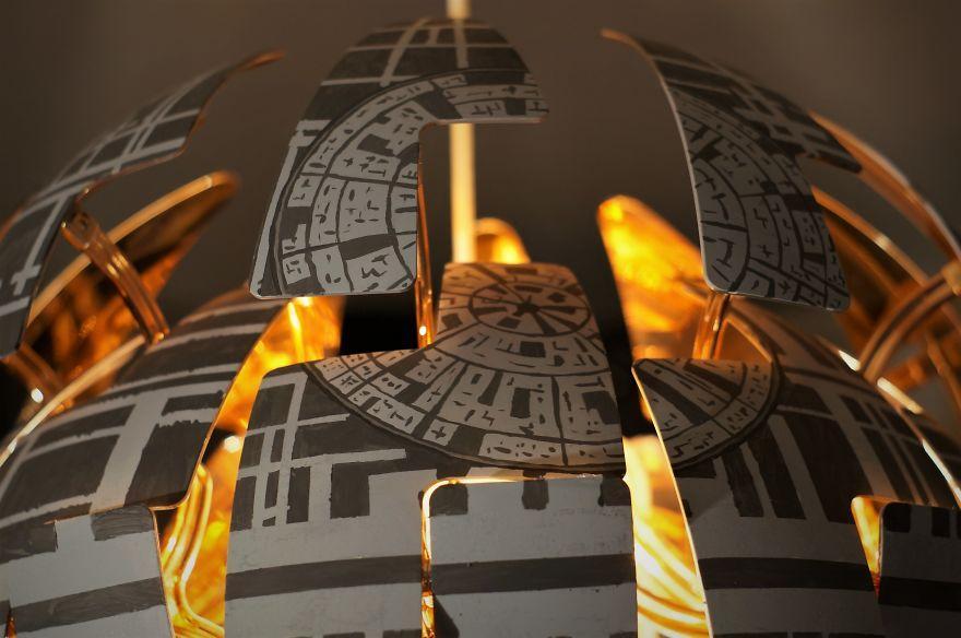 Ikea Star Wars Lampe Schwarz