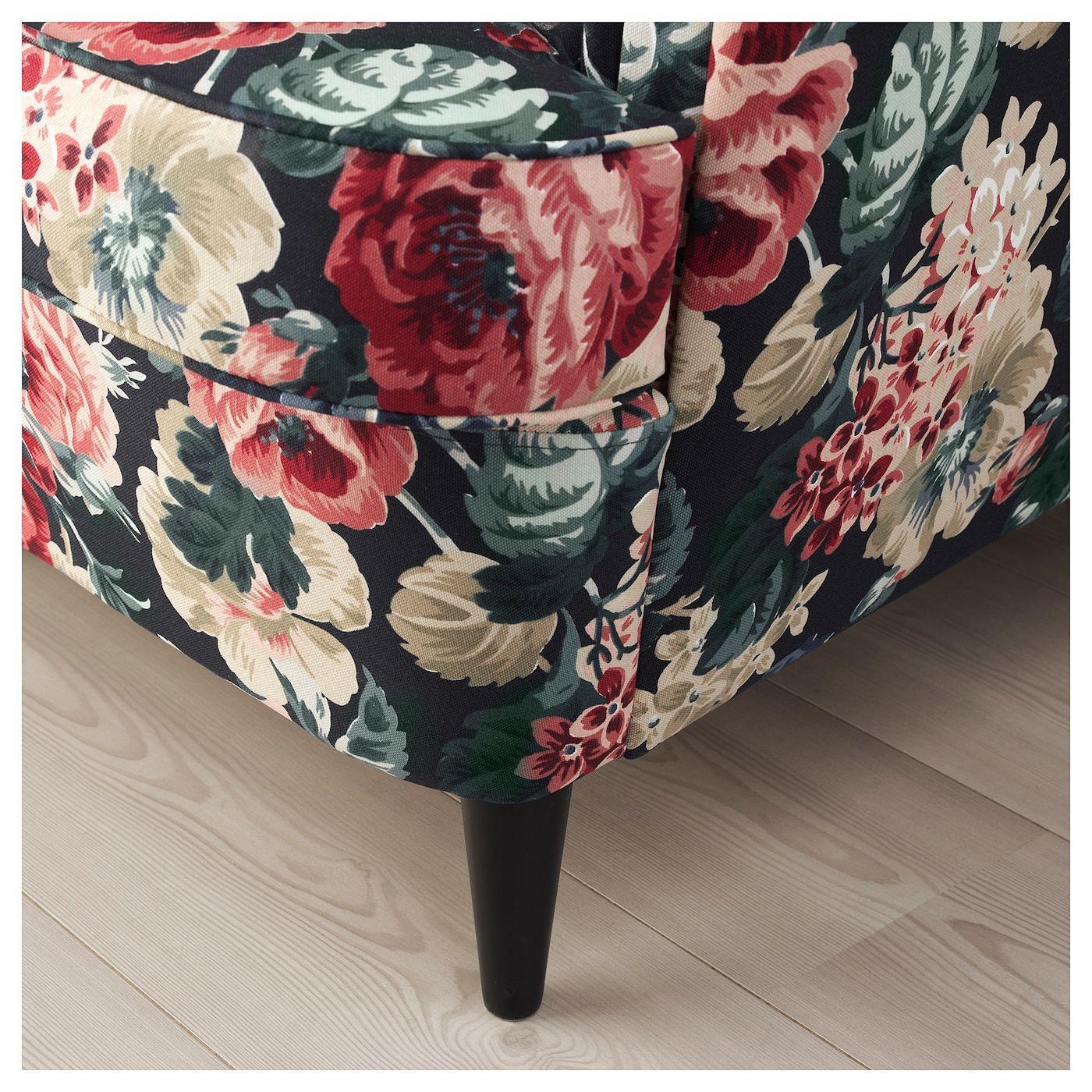 Ikea Strandmon Sessel Blumen