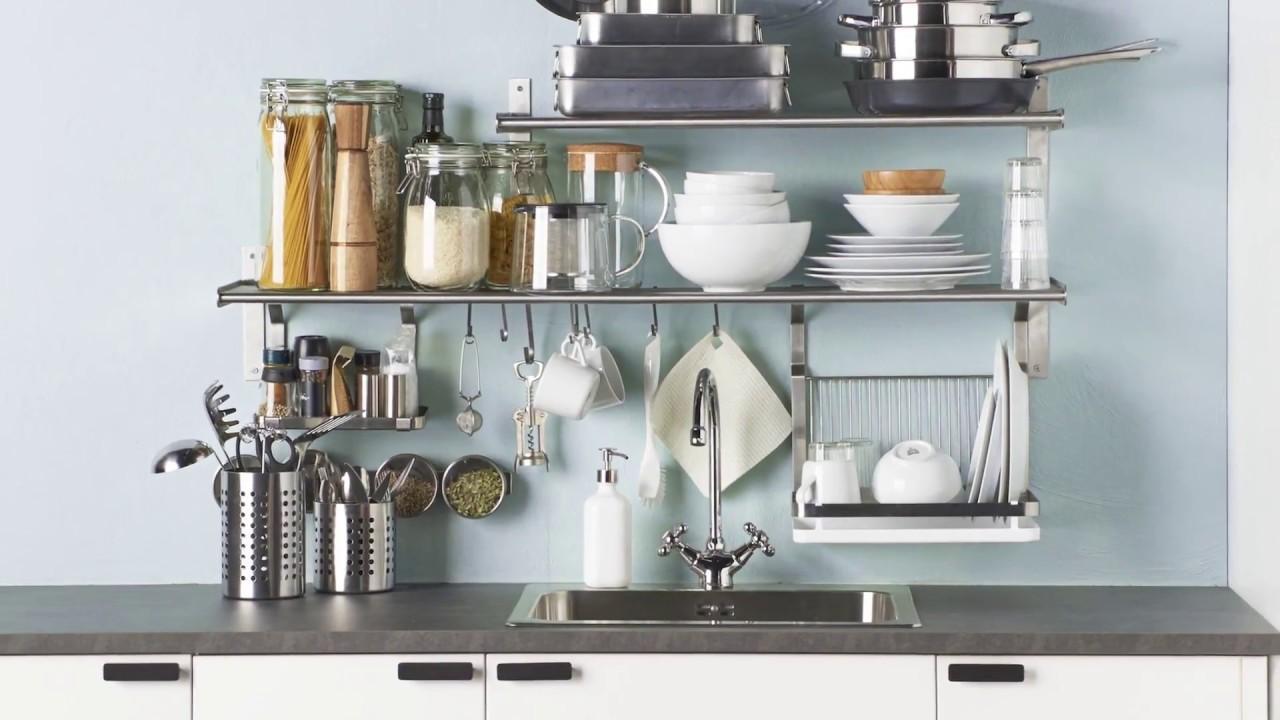 Ikea Wandregal Küche Edelstahl