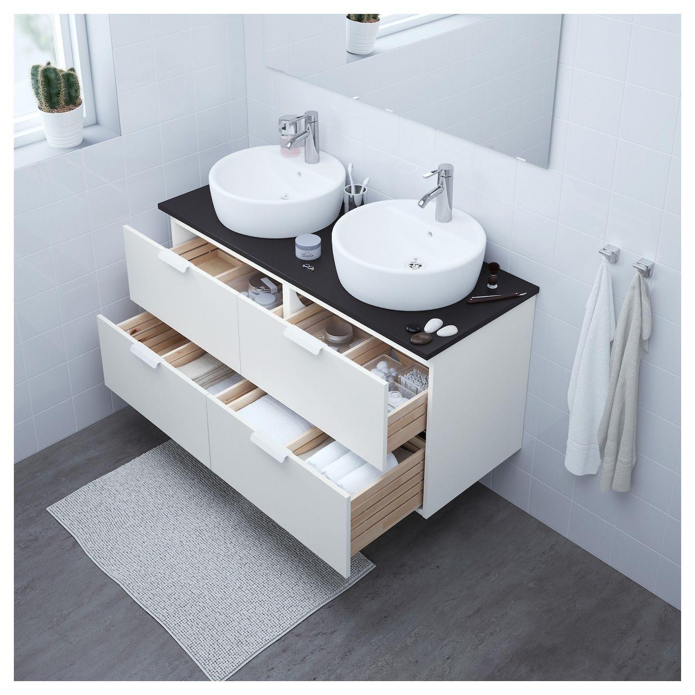 Ikea Waschbeckenunterschrank Grau