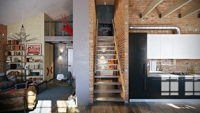 Industrial Möbel Wohnzimmer