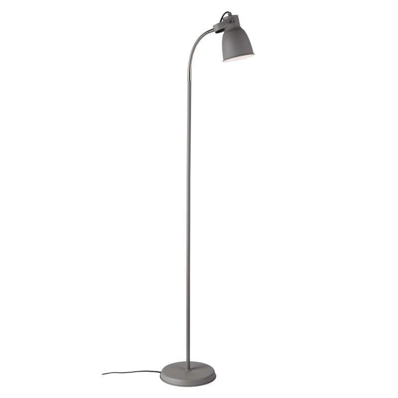 Industriedesign Stehlampe Schwarz Metall