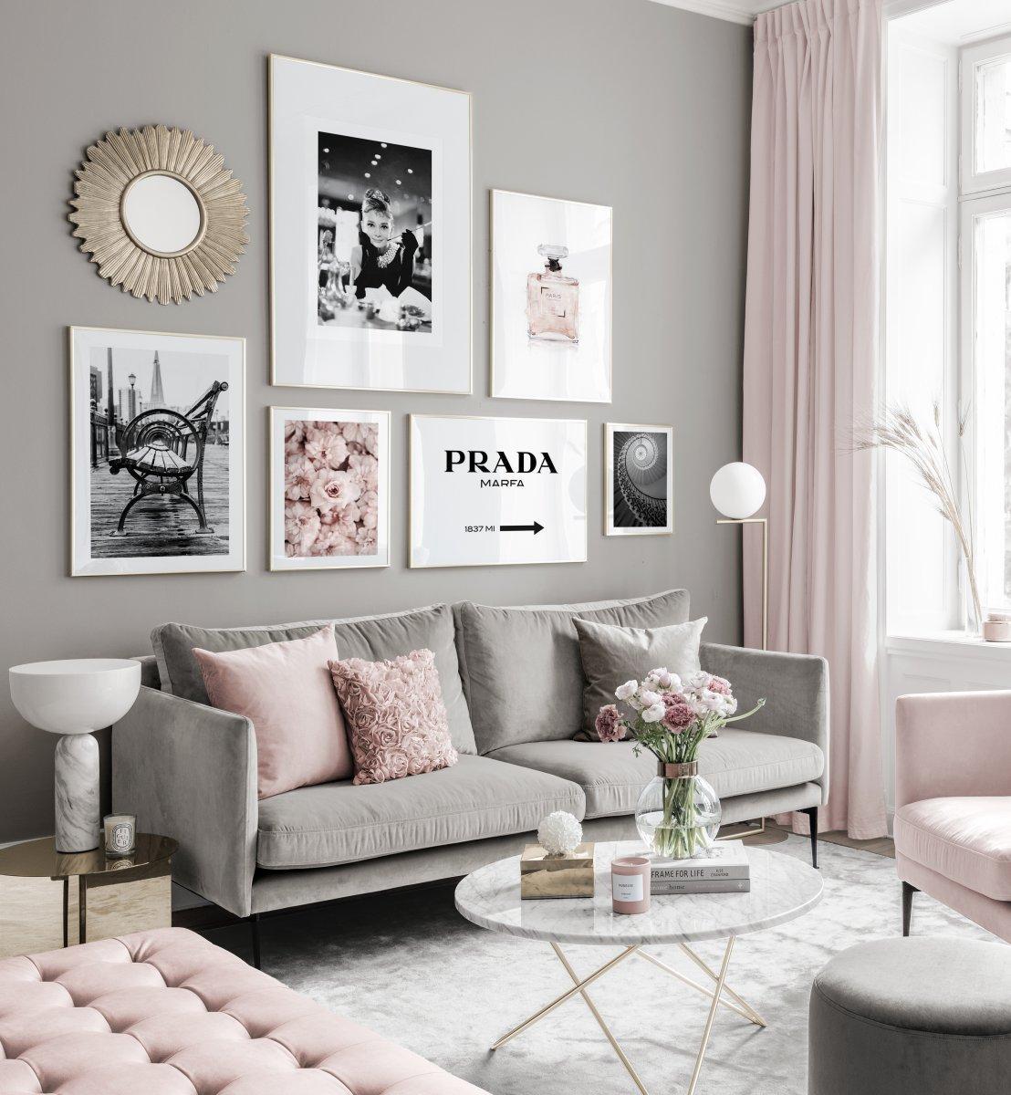 Inspiration Bilderwand Wohnzimmer