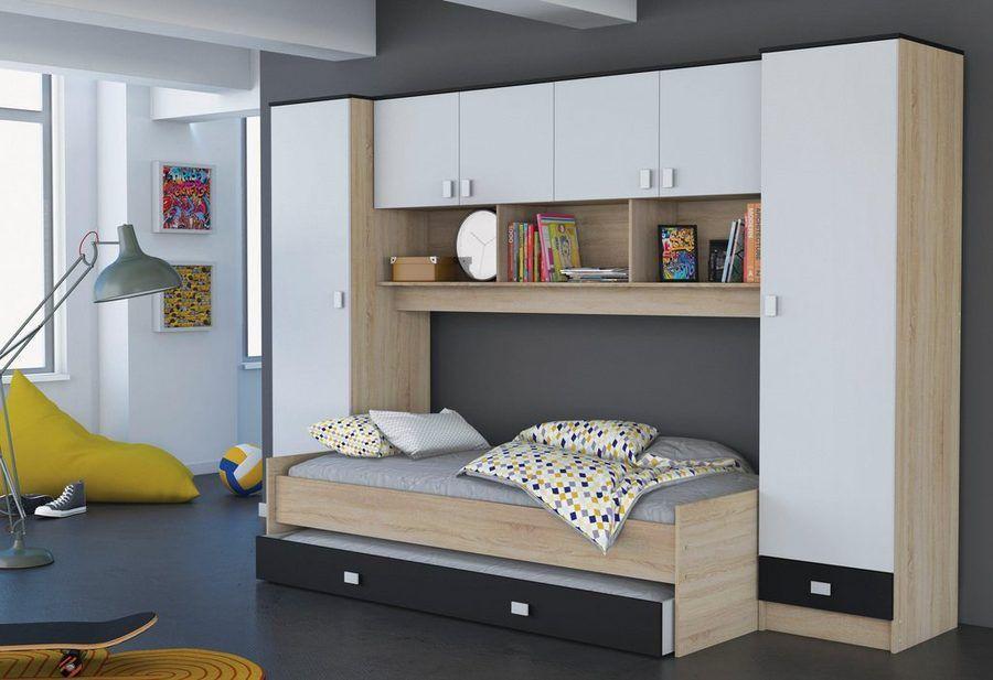 Jugendzimmer Bett Mit überbau