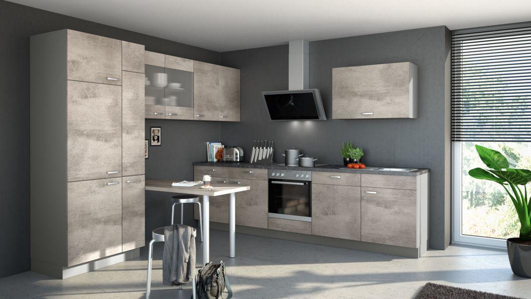 Küche Betonoptik Grau