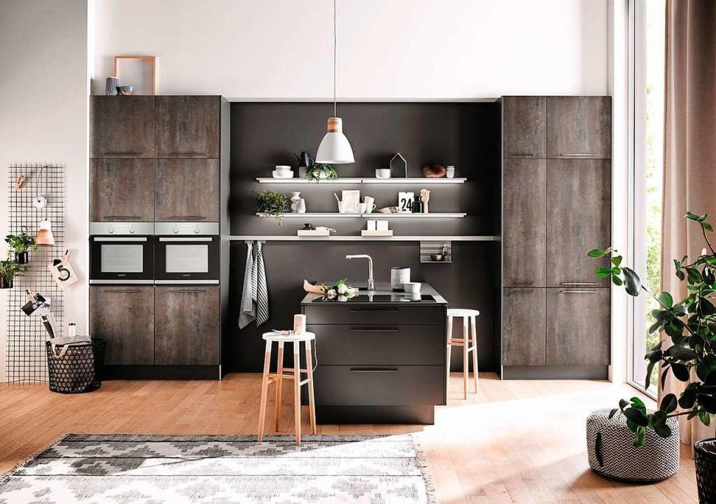 Küche Betonoptik Holz